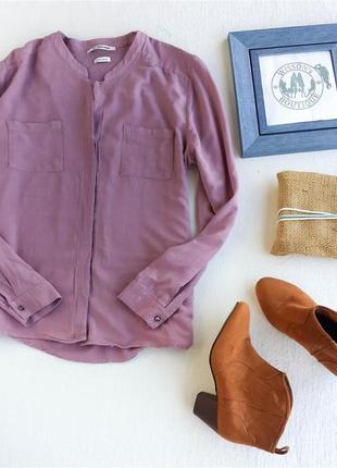 Крутая блуза цвета пыльной розы