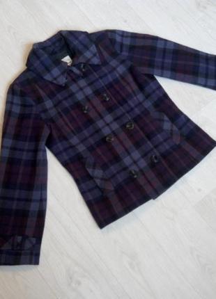 Демисезонное шерстяное пальто tom tailor размер l