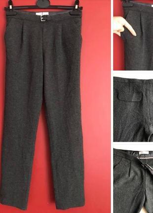 Стильные укорочённые штаны zara girls / classic pants wool / 158-164 xs/s