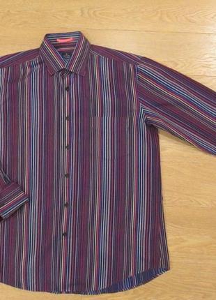 Фирменная рубашка под запонки paul smith