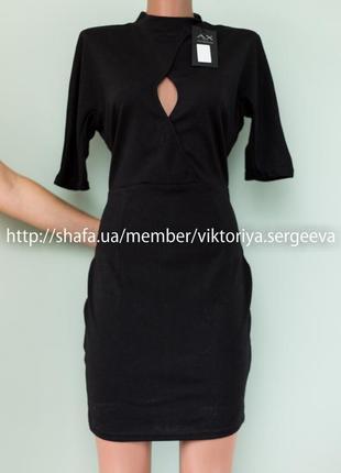 Большой выбор платьев - новое с биркой платье миди по фигуре с вырезом на груди демисезон