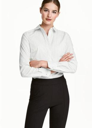 Рубашки женские в полоску h&m деловой стиль