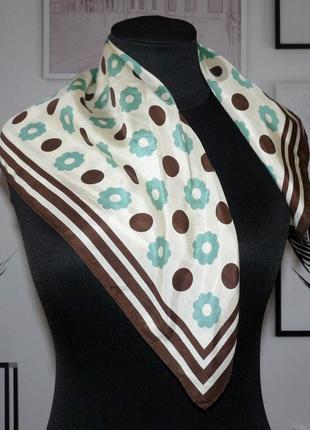 Платок шейный шелковый