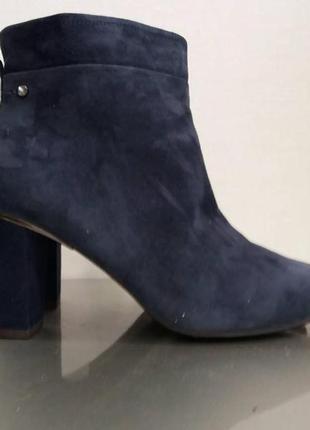 Ботинки из натуральной кожи замш
