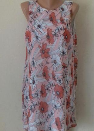 Шифоновое нежное платье с принтом f&f