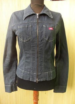 Джинсовая куртка / рубашка застежка молния mid sixty2