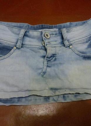 Джинсовая коротенькая юбочка