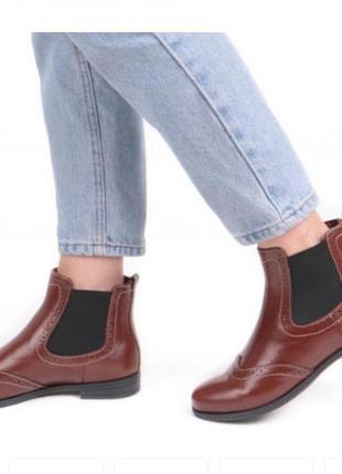 """Ботинки """"челси"""" нат.кожа утепленные от pratik (харьков),38 р.,стелька 24,5 см"""