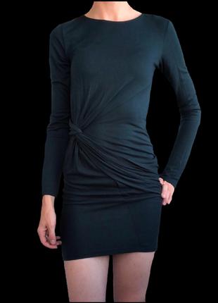 Платье zara ( бутылочный зеленый)