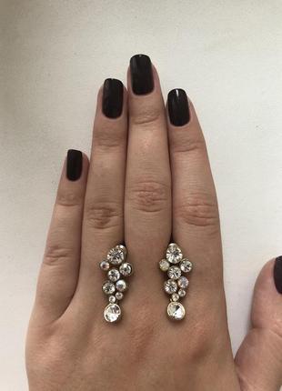 Сережки с кристаллами
