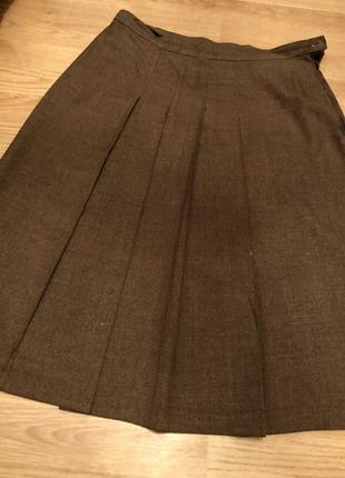 Плотная ткань/ тёплая осенняя юбка размел ххл-хххл