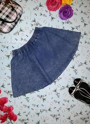 """Стильная джинсовая короткая юбка """"варенка"""", размер s-m"""