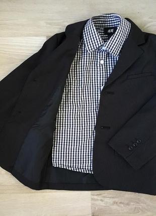 Комплект рубашка и пиджак на мальчика н&м