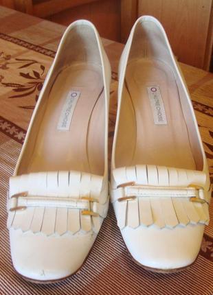 Туфли белые кожаные l'autre chose италия размер 38 стелька 25,5 см