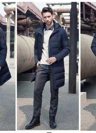 58a5d4910097a 48/50 р стильный качественный длинный зимний мужской пуховик пальто биопух  icebear