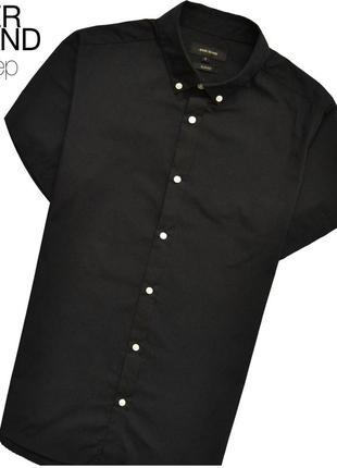 River island m / чёрная рубашка
