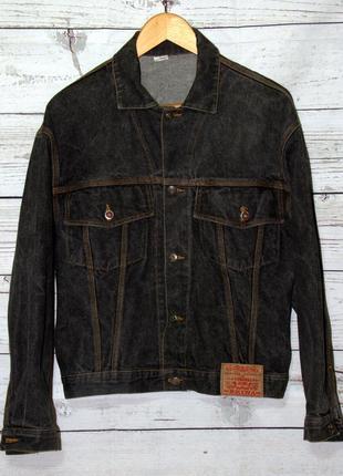 Крутая джинсовая куртка жакет с эффектом потертости brina