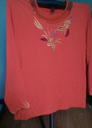 Трикотажная блуза , большой размер , батал.