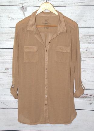 Стильная легкая удлиненная рубашка