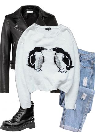 Милый свитер с пингвинами от new look