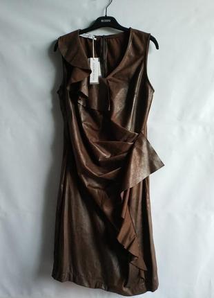 Женское платье под кожу итальянского бренда rinascimento, s, xl