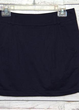 Крутая трикотажная юбка темно-синего цвета