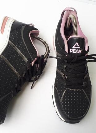 Peak sport супер легкие женские кроссовки в горох р.38/24,5см