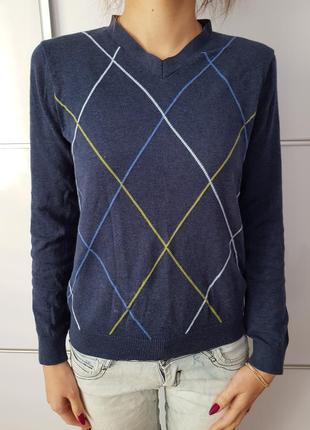 Тонкий свитер с узором gap