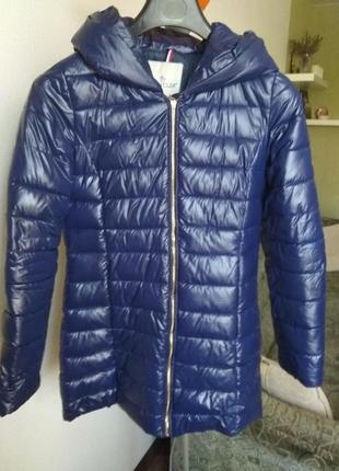 Зимний пуховик moncler синий