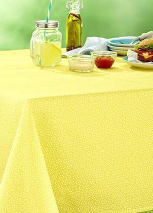 Желтая скатерть 180× 140см 100% хлопок tcm германия
