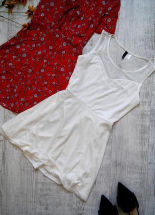 Сукня сонце-кльош h&m з вставками сітки