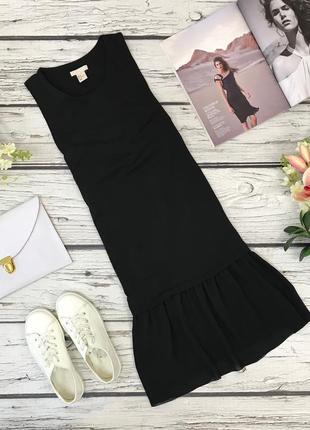 Лаконичное платье h&m с игривой оборкой  dr1836036  h&m
