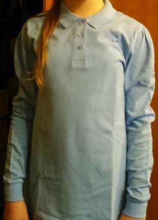 Поло для девочки джордж, размер 158-164