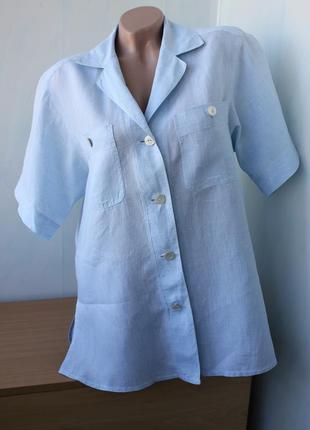 Льняная рубашка max mara на л-хл размер