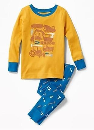 Детская хлопковая пижама old navy из сша 12-18, 18-24.