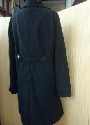 Чёрное  флисовое пальто с  m/l2