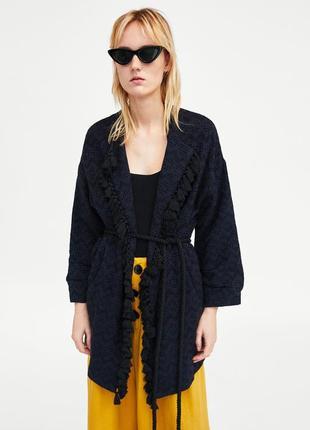 Жаккардовое кимоно от zara