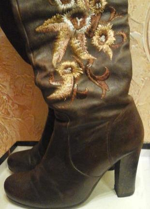 Сапоги чоботи демосезонні шкіряні basic