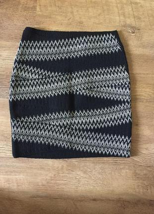 Чёрная обтягивающая юбка мини размер xs s,,m