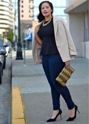 Синие джинсы джеггинсы скинни с пуш-ап на высокую узкачи американки на резинке
