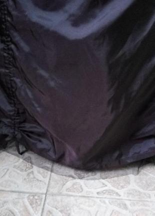 Женственная французская атласная юбка макси с фатином / с вышивкой m, l4 фото