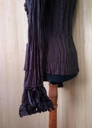 Женственная блуза натуральный фактурный шелк с рюшами сердечками m/l3