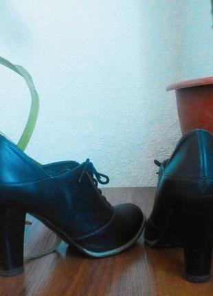 Ботинки .кожа.