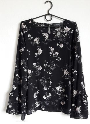 Стильная шифоновая блуза с оригинальными рукавами 20рр