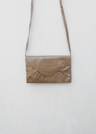 Маленькая сумочка клатч через плечо из кож.зама