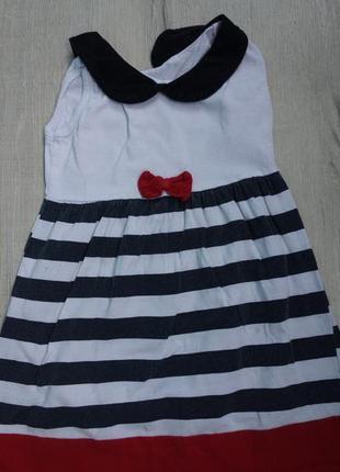 Хлопковое детское нарядное платье