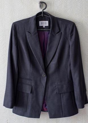 Пиджак классический серый классика