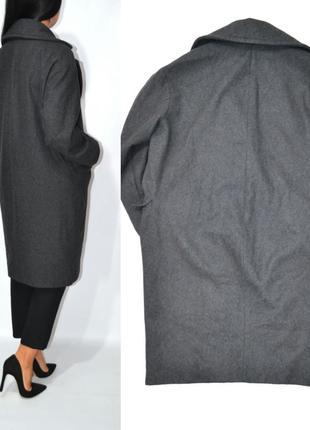 Пальто шерсть бойфренд оверсайз h&m.3 фото