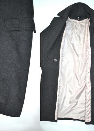 Пальто шерсть бойфренд оверсайз h&m.5 фото