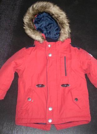 Зимняя куртка next 12-18 мес, 86 см ( большемерит)